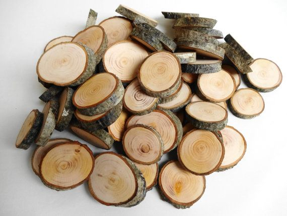 Piccolo albero rami fette, leggermente levigati, legno naturale, incompiuto. Legno essere ideale da utilizzare come filler vaso, artigianato,