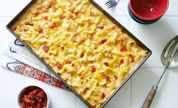 Κοραλάκι σε πικάντικη κρεμώδη σάλτσα με τυριά
