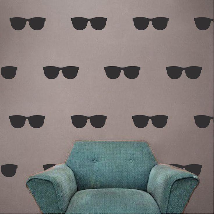 Sunglasses Wall Decal   Modern Wall Decal Murals   Primedecals