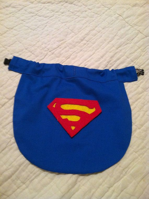 Small Dog Superman Cape slides right over the by MyDoggieDuds