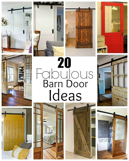 20 Fabulous barn doors perfect for any style and space.