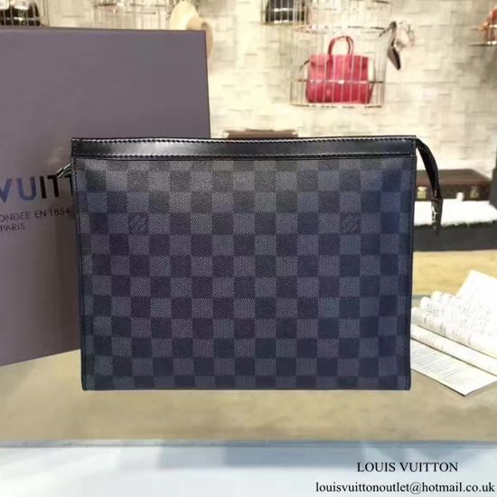 dd9aa7ef31d0 Louis Vuitton N41696 Pochette Voyage MM Damier Graphite Canvas ...