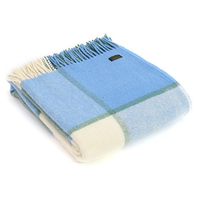 Tweedmill British Made 100% Wool Blanket - Sea Cream