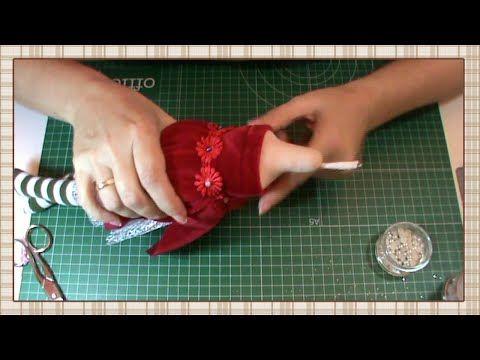 Tutorial Hada de la Navidad: Vestido 3ª parte: top y brazos - YouTube