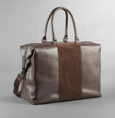 Roma Leather and Suede Duffle Bag - Kenneth Cole
