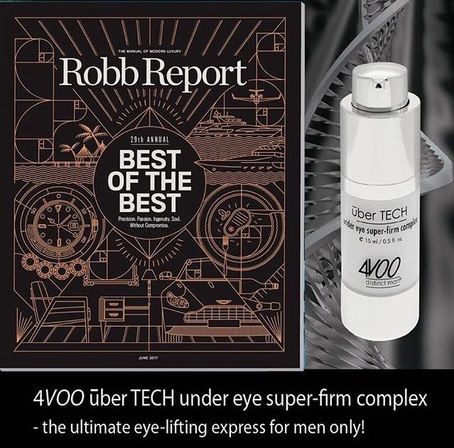 4VOO #distinctman Featured in Robb Report U.S. Best of the Best!