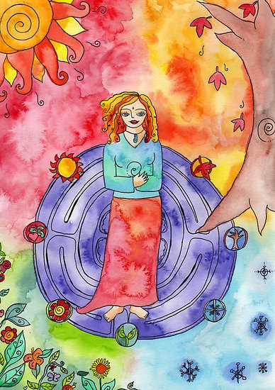 Wheel of the Year by GoddessLeonie: Art Inspiration, Lovely Artwork, Art Journals, Media Art, Sacred Space, Pagan, Fave Artworks