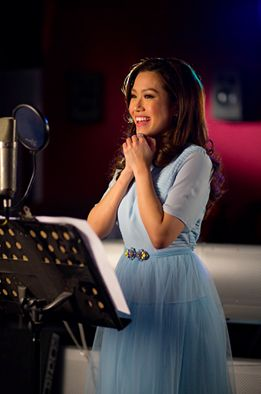 Check out Rachelle Ann Go in the studio working on a very special something just for you! Stay tuned! #MyCinderellaMoment