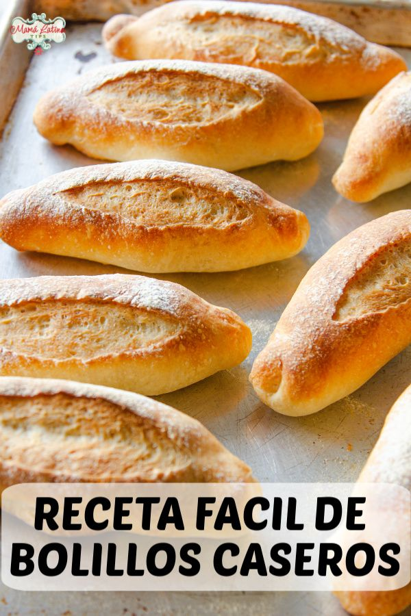 This easy Mexican bolillos recipe will deliver crusty oval rolls that your familia will love. Learn how to make these traditional bread at home, nothing beats the aroma of freshly baked bread, plus my recipe requires very little kneading. Mexican Sweet Breads, Mexican Bread, Mexican Dishes, Mexican Food Recipes, My Recipes, Dessert Recipes, Cooking Recipes, Favorite Recipes, Mexican Sandwich