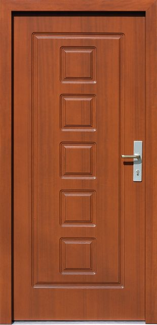 Drewniane wejściowe drzwi zewnętrzne do domu z katalogu modeli klasycznych wzór 682f1