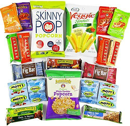 Healthy College Care Package - Granola bars, fruits snacks, popcorn, chips, and more! CollegeBox Bundle (20 Count)