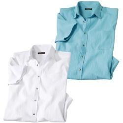 2er-Pack Sommerhemden aus Krepp Atlas For MenAtlas For Men