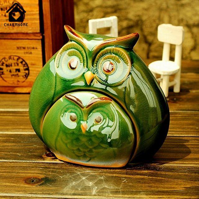 SweetHome Criativas cerâmica amantes de esmalte para o festival de aniversário presente Mobiliário de Casa mãe coruja enfeites de Mobiliário de decoração