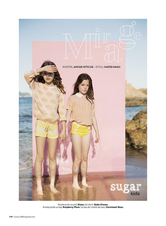 Nicole & Arrieta from Sugar Kids for Milk Magazine by Anouk Nitsche