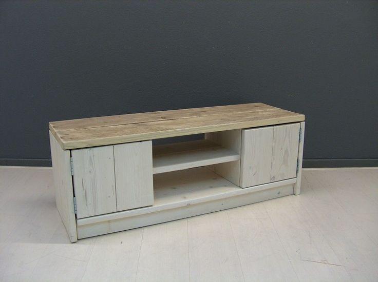 Tv meubel White wash   2013 woonkamer inrichten   Pinterest