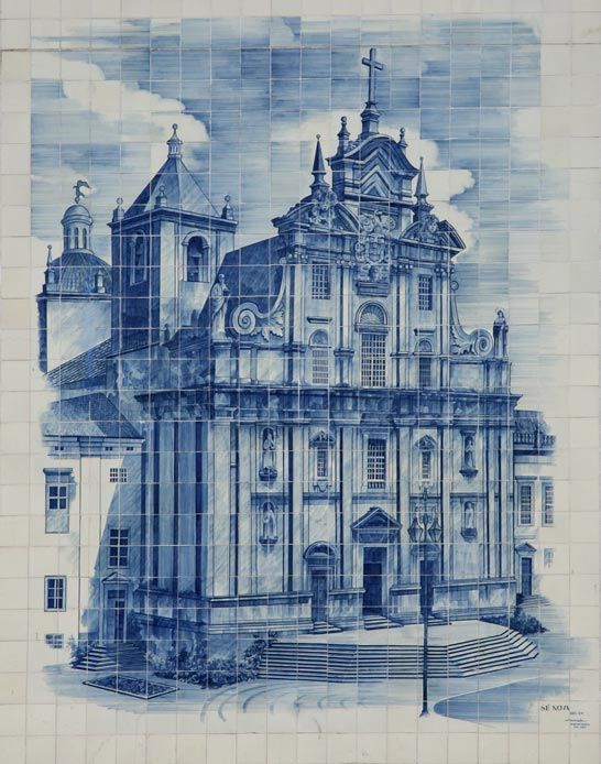 The Azulejo refers to a typical form of Portuguese or Spanish painted, tin glazed, ceramic tilework, They have become a classic feature of Portuguese culture, manifesting without interruption during five centuries consecutive trend in art. They are also a tradition in former Portuguese and Spanish colonies in Latin America. Whenever visiting Portugal, azulejos are to be found at churches, palaces, train stations etc.