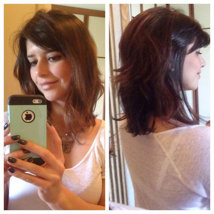 Meu corte de cabelo atual