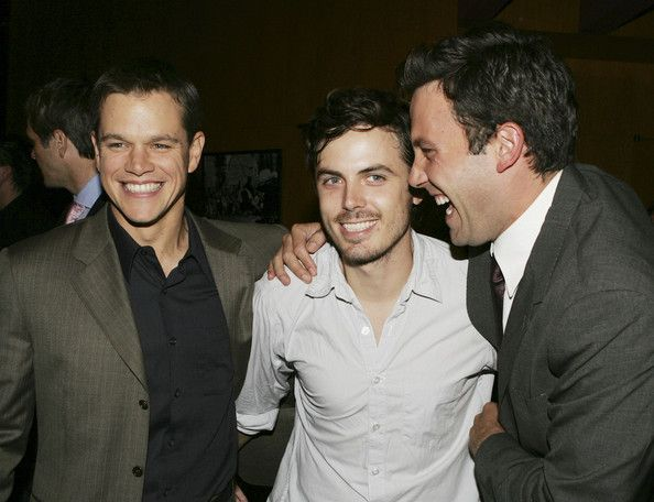 Casey Affleck and Ben Affleck Photos - Actors Matt Damon (L-R), Casey Affleck and Ben Affleck talk at the premiere of Dimension Film's 'The…