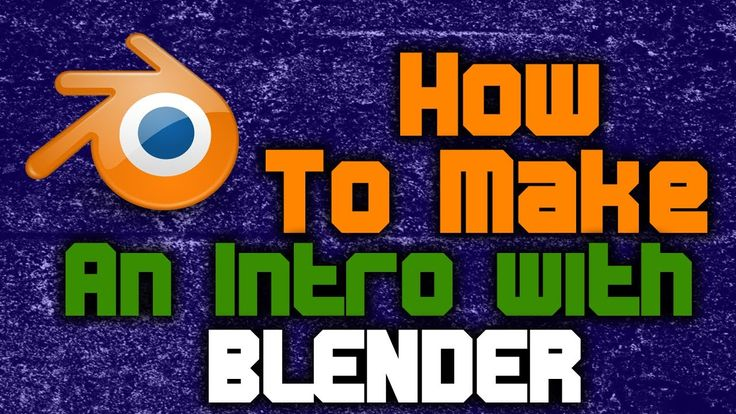 How to make you tube intro with blender !!easy steps!! hindi //2016//