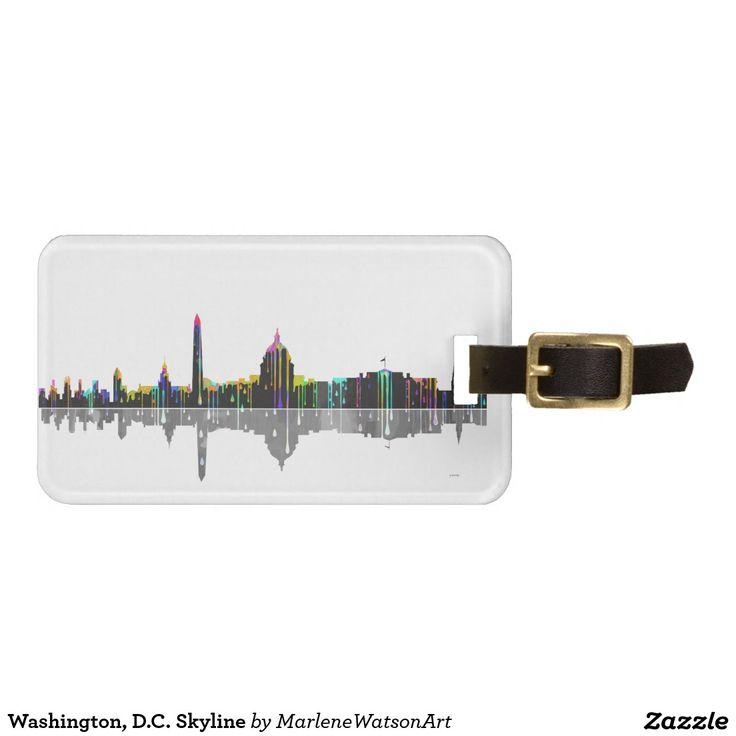 Washington, D.C. Skyline Travel Bag Tag