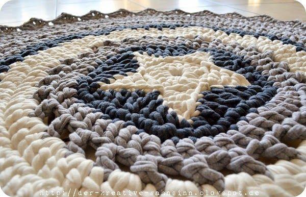 Die 25+ besten Ideen zu Teppich Häkeln auf Pinterest