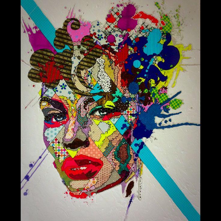 "Pınar Du Pre ""Marcella"" 170x135cm/mixed media on canvas/2014"