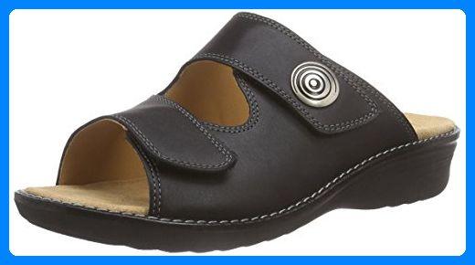 Ganter HERA, Weite H, Damen Pantoletten, Schwarz (schwarz 0100), 42 EU (8 Damen UK) - Clogs für frauen (*Partner-Link)