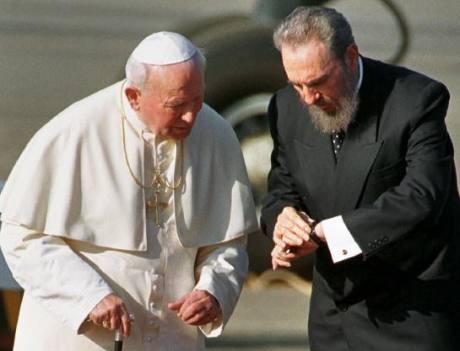 Juan Pablo II y Fidel Castro