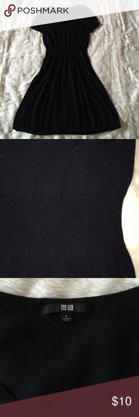 UNIQLO wool dress shirt sleeves Pure wool dress! Uniqlo Dresses