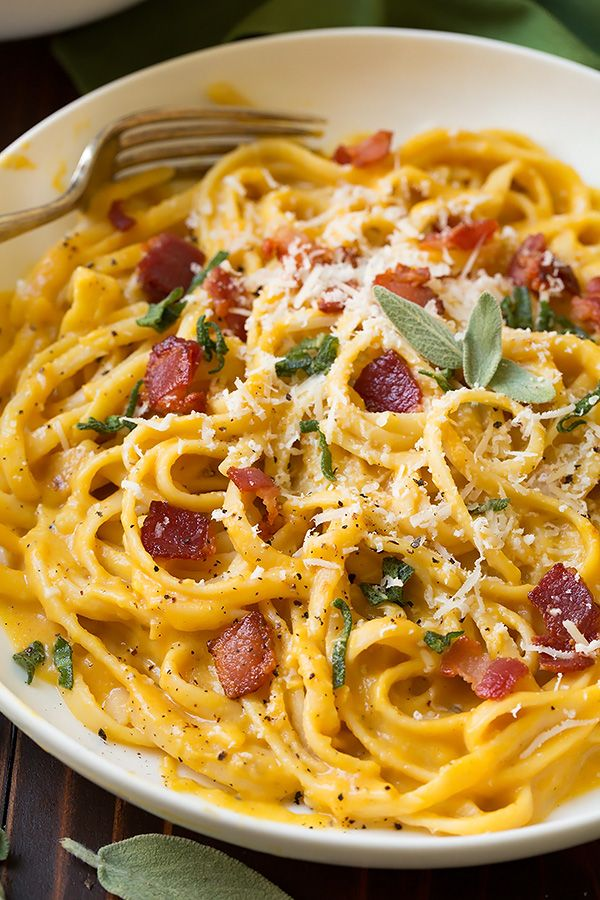 Butternut Squash Carbonara | Cooking Classy Try with spaghetti squash instead of linguini