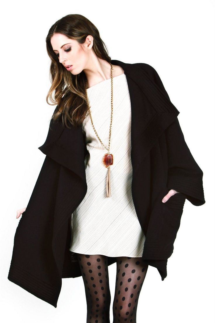 Black Wool Coco Coat | Kristinit