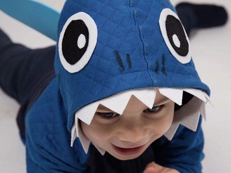 DIY-Anleitung: Haikostüm für Kinder aus Strickjacke selber machen via DaWanda.com