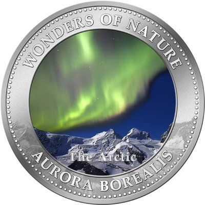 Moeda: 1 Dollar (Aurora Borealis) (Ilhas Cook) (Wonders of Nature)