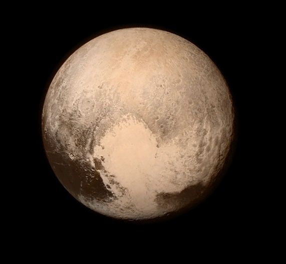 Pluto is a planet! It's five moons are a testament to that. New findings? It snows on Pluto. And- the planet is red like Mars; not grey as NASA once thought.