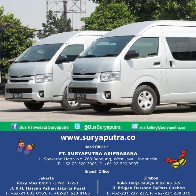 """Bus Pariwisata Terbaik dengan Pelayanan Terbaik, dapatkan kenyamanan dan keamanan dalam berwisata. Hub Kantor Kami / agen-agen resmi kami di seluruh Indonesia. """"We Make Your Way"""""""