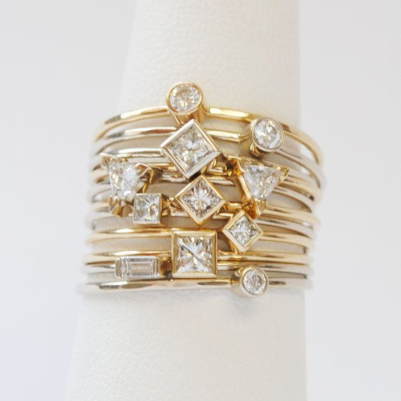 Cute little stack rings.