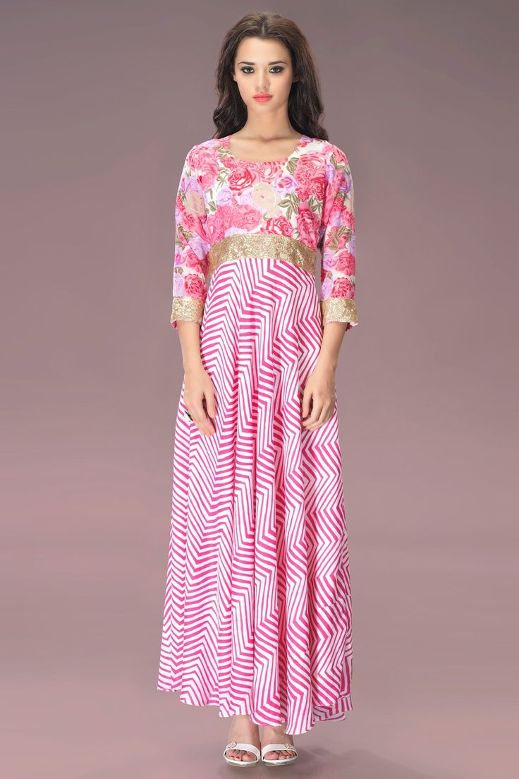 """I don't do Fashion. I am #FASHION!"" - Coco ChanelOur Price: INR 3,110Shop Now: http://www.admyrin.com/catalogs/bond-street/pink-georgette-leheriya-print-long-tunic.htmlView Entire Collection: http://www.admyrin.com/catalogs/bond-street.html#Dress #WesternWear #Stylish #Leheriya #Print #COD"