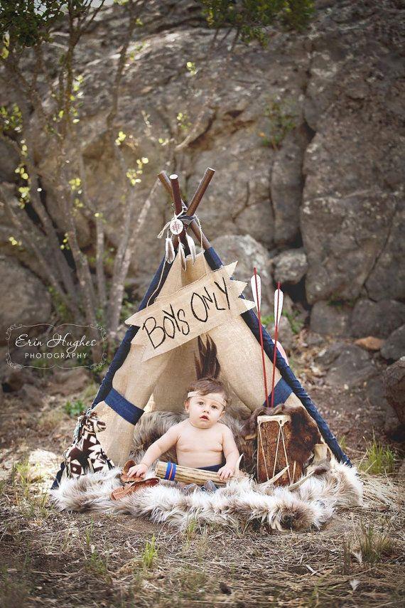 LUKE  burlap teepee tent photo prop by SugarShacksTeepee on Etsy, $75.00