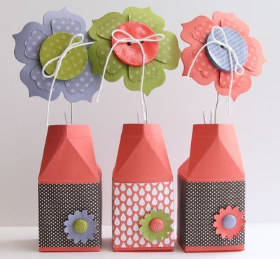 Stampin' Up!  Milk Carton - Fun Flowers  Heather Summers  Paper Buttons video