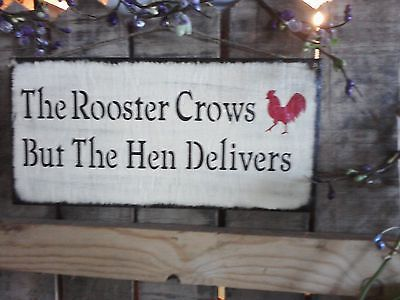 Primitive-wooden-sign-The-Rooster-CRows-Hen-country-sign-cute