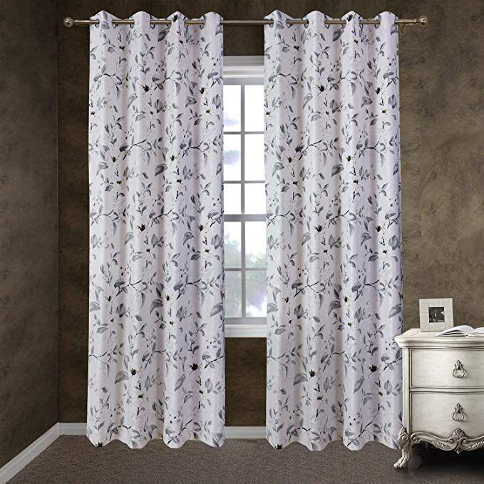 Pin On Window Treatment Panels, White Room Darkening Curtains 96 Inch