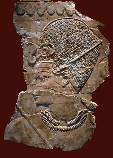 Relief of King Amenhotep III, from the Tomb of Khaemhat (TT57), ca. 1360 BC. Now in the Neues Museum, Berlin. Inv.no. 14442.