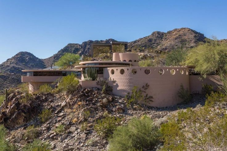 The Norman Lykes Home overlooks Palm Canyon.