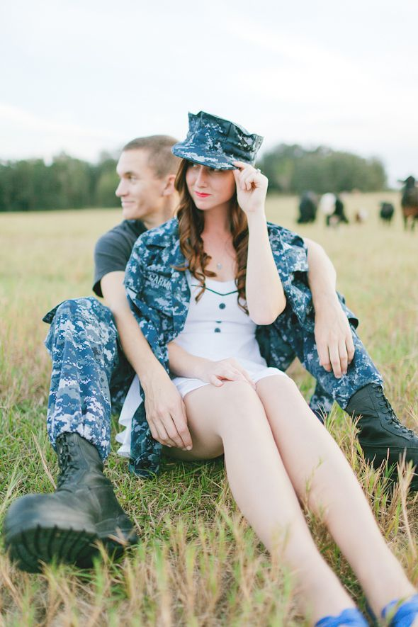 Cute military engagement photo from @Andi Fisher of Misadventures with Andi Fisher of Misadventures with Andi Mans