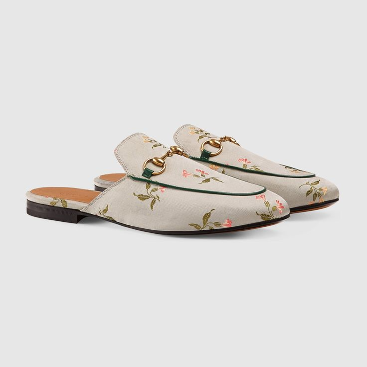 Gucci Women - Gucci Princetown Floral Duchesse Slippers - $595.00