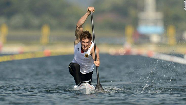 8/11/12 - Sebastian Brendel of Germany competes in the men's canoe single 200-meter sprint final.