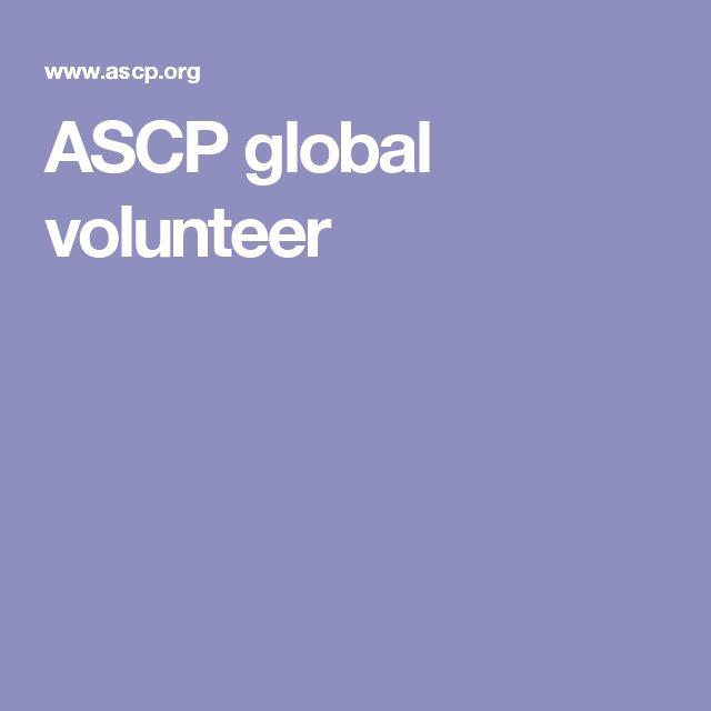 ASCP global volunteer
