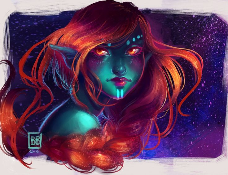 Today we're looking at a series of colorful works by Britt Berg. Brittmainly works in Paint Tool Sai on a Surface Pro 4, because of the simple and unintrusive interface. ['Give me my trusty chalk…