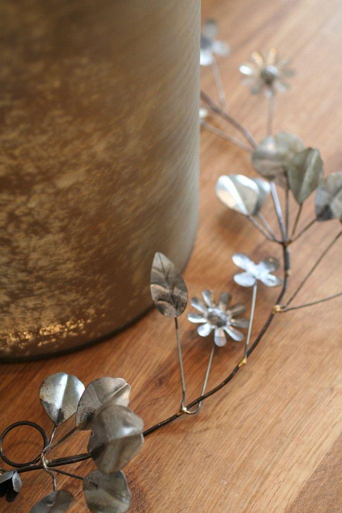 Metal Flower Garland Discoverattic Modern Home Gift
