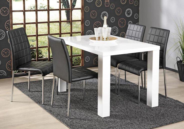 KIDE-pöytä 120x80cm ja 4kpl ROXY-tuoli musta | Sotka.fi